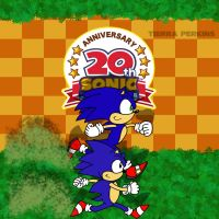 Sonic's 20th Anniversary by Pisces19