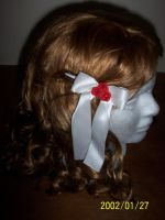 White Twin Ribbons 3 by WildRoseWorkshop