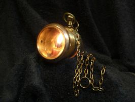 Steampunk watch lamp by hellgnome