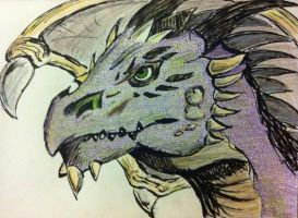 Purple Dragon by shadwgrl