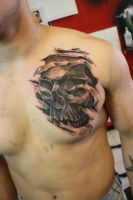 Skull of the day by SimplyTattoo