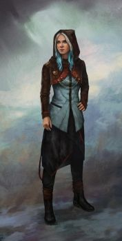 Modern water mage by Lucy-Lisett