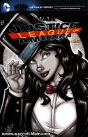 French Zatanna bust sketch cover by gb2k