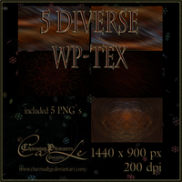 5-Diverse-WP-Textures by Charmadige