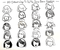 twenty ways- basic hairstyle- by NeonGenesisEVARei