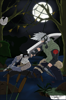 Zabuza VS Kakashi by SketchMyD