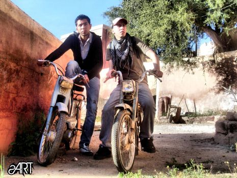 Tafraout bikers by snookart