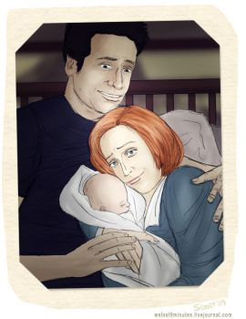 mulder, scully and william by skuuri