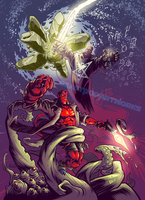HELLBOY 2OTH ANNIVERSARY colors by pop-monkey