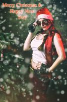 Lara Croft ! Tomb Raider Christmas by Visual-Aurelie