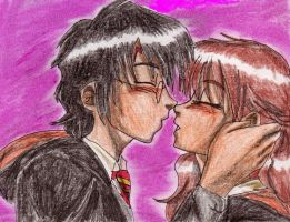 harry and Hermione first kiss by aranelia
