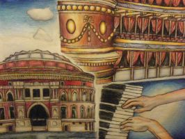 Albert Hall drawing (Drawing from when I was 13) by supersonicartdrawer