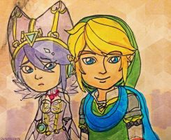 Cia and Link by DanaNicole96