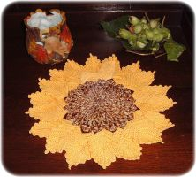 Sunflower doily by buttercupminiatures