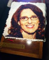 Tina Fey in Diamonds Quilt by RobynRose