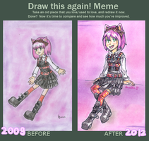 Improvement Meme (2009 vs. 2012) by Amalika