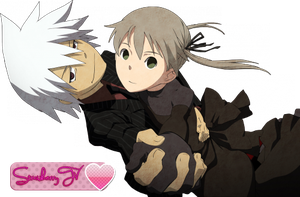 Soul and Maka Render by StrawberryTv