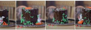 Easter Stump Cake 1:12 Scale 360 View by abohemianbazaar