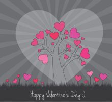 Valentine Vector Card by pinkonhead