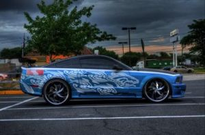Blue Mustang 1 by sasigrl4evr