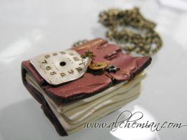 Steampunk Book necklace by AlchemianShop