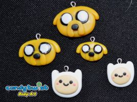 Polymer Clay Jake the Dog and Finn the Human by Dabstar