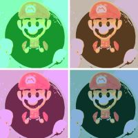 Super Mario Bros. Pop Art by DevintheCool