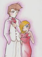 Tenny and Tabby for Valentines by XcoconutxpineappleX