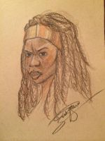 Another Day, Another Michonne by Nativa-Basco