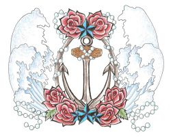 Anchor Chest piece colored by blkmagick