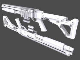Remington M870 Mesa Tactical by grylsyjaeger