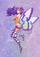 Lavender butterfly by effulgent-smile