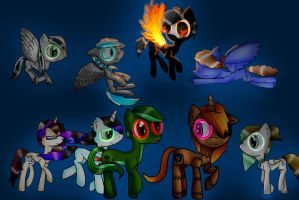 Pony Pic with other Deviants by PirateEnderFox