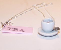 I love tea Necklace 2 by PookieTookieJewelry