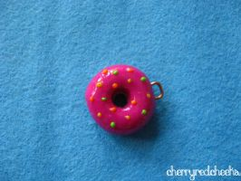 Pink Donut with colored Sugar by CherryRedCheeks