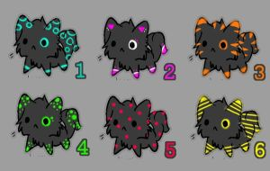 Cheap Neon Kittys OPEN by animelovers21