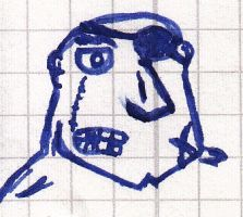 DEAD Serious Guy Face Scribble by vonRibbeck