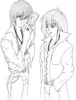 Kaiba Brothers by HieiSQueen