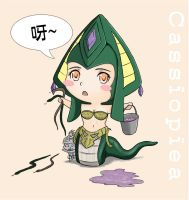 League of Legends - Chibi Cassiopiea by tonnelee
