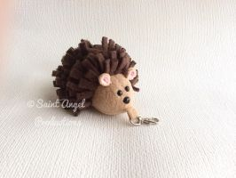 Small Stuffed Hedgehog Plush Keychain, Bag Charm by Saint-Angel