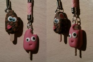 Phone strap ice cream fimo by bimbalove81