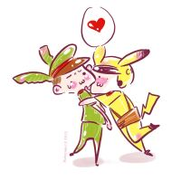 PIKACHU and Banana - Love me more Love you more 2 by Alzheimer13