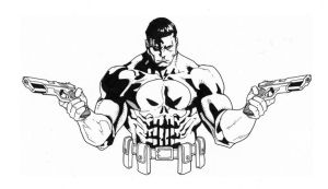 Punisher inks by JosephLSilver