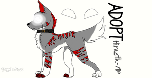 Adoptable Auction : Demon Wolf by FoxyDaBoss