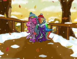 A Chilly Outing by Cozmicpandawolf