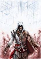 Ezio Auditore da Firenze coloured by froggywoggy11