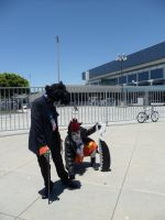 Anime Expo Not My Shadow by DelphiniumFleur