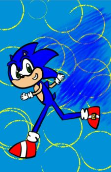 Sonic The Hedgehog by LoudCrazyPerson