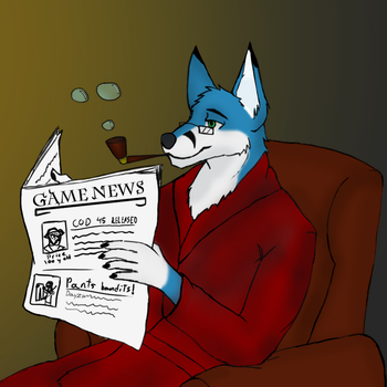 Reading a gaming magazine! by Thigoron
