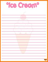 ice cream memo sheet by shabooty9